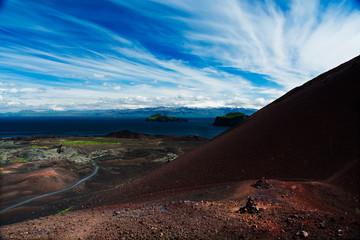 L'Eldfell et l'Ejafjallajökull