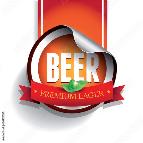 Beer label or sticker - lager