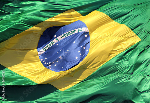 Brazilian flag - Detail