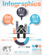 INFOGRAPHICS MODERN BUSINESS  ICON MAN STYLE 4