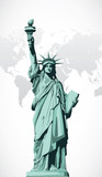 Vector statue of Liberty