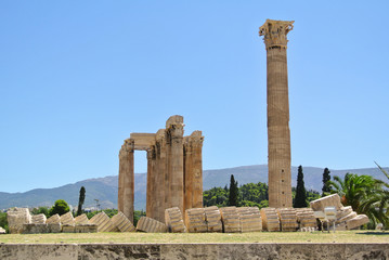 Remains of The Temple of Olympian Zeus, Athens