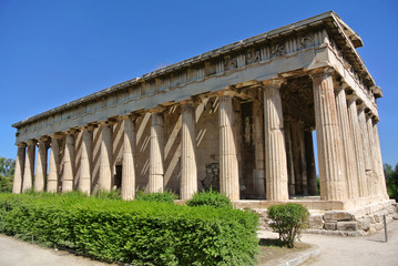 The Temple of Hephaestus is a well-preserved Greek temple