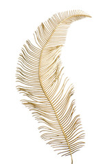 Christmas decorative golden feather