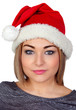 Sexy woman with a Christmas hat