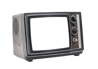Little old Portable Television Set with Cut Out Screen