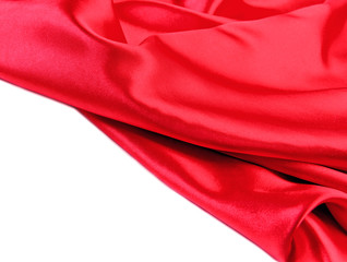 Red fabric silk
