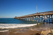 Newport pier beach in California USA