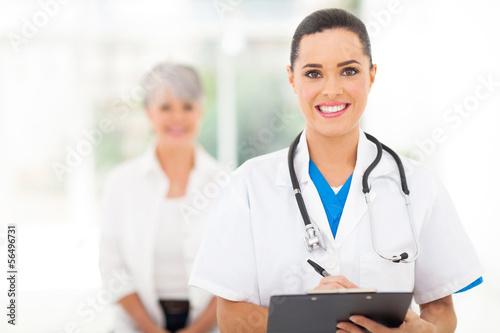medical doctor portrait in hospital