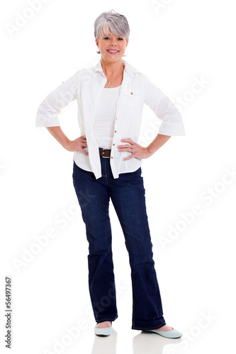 middle aged woman in casual clothes