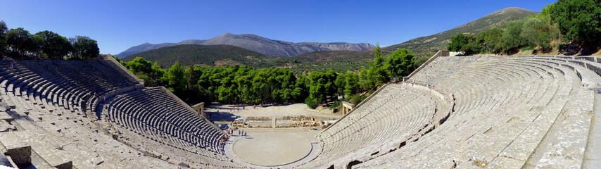 Théâtre d'Epidaure dans le Sanctuaire d'Asclépios en Grèce