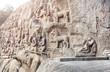 Ancient basrelief in Mamallapuram