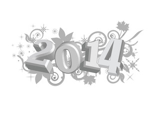 2014 Graphic on decorative background!