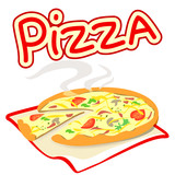 icon with pizza on a white background