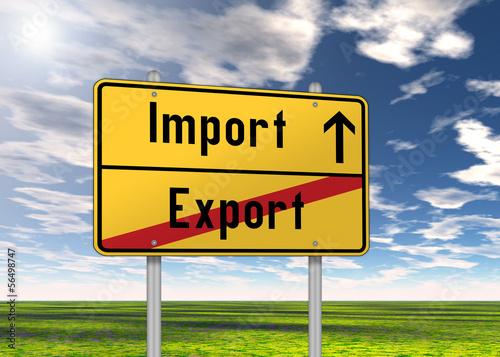 """Ortsschild """"Import / Export"""""""