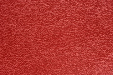 Red Glossy Artificial Leather Background Texture