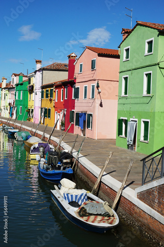Fototapeta Island of Burano, colorful facades