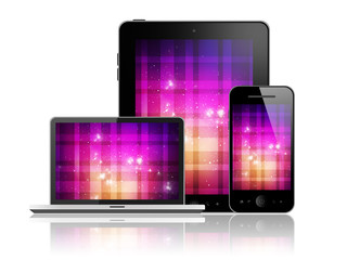 Tablet pc,mobile phone and laptop