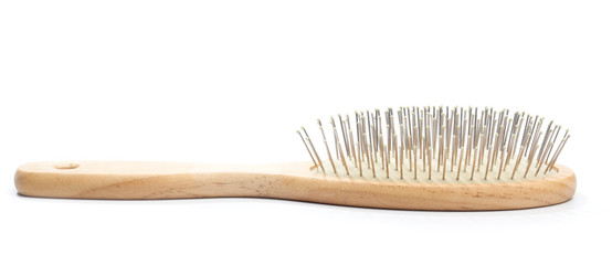 Wodden brush, isolated on white