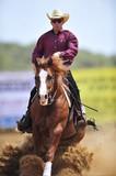 Man riding a horse poster