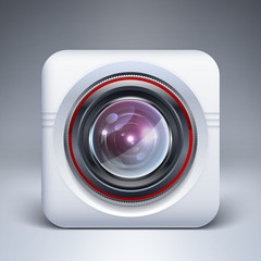 Web camera icon. Vector illustration