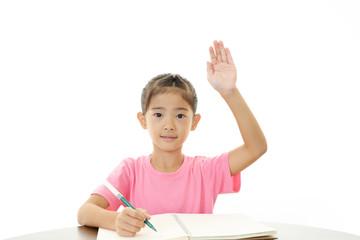 授業を受ける女の子