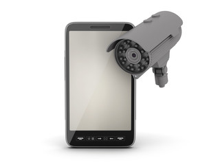 Cell phone and security camera