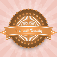 Premium quality label. Vector