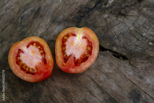 Two Pieces of Tomato