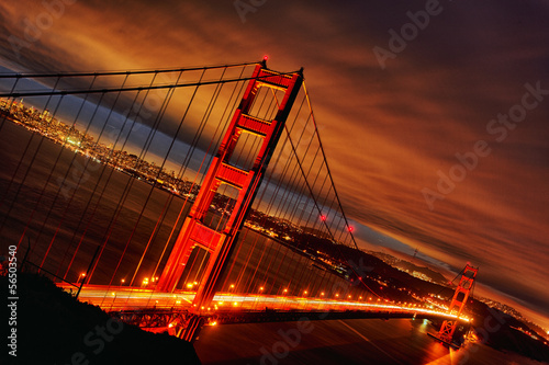 sunset at Golden Gate Bridge