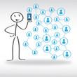 Social Network, Strichmännchen