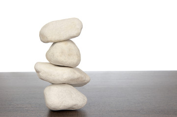 Pile of white stones