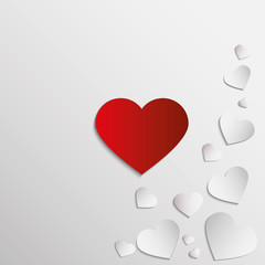 red and white paper heart