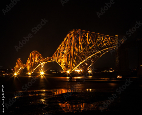 forth bridge night