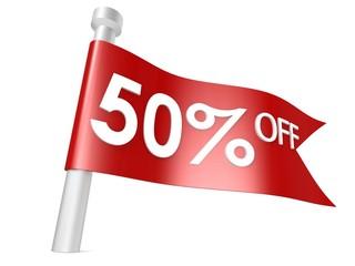 Off 50 percent