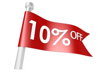 Off 10 percent