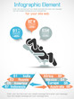 INFOGRAPHIC MAN BUSINESS RANKING