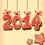 Christmas sweets style new year vector sign