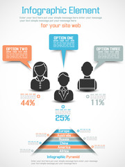 INFOGRAPHIC BUSINESS MAN MODERN STYLE