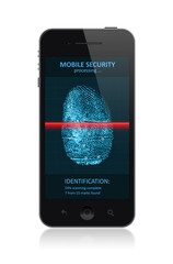 Smartphone with fingerprint application