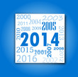 Carte de voeux : 2014 bleu