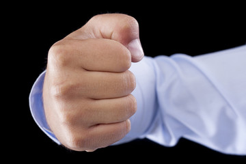 Punching Fist - Stock Image