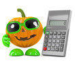 Pumpkin with calculator