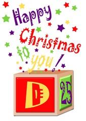 scatola di auguri natalizi