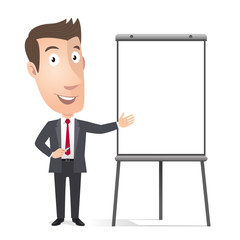 Manager, cadre commercial, chavalet de conference. Vecteur CMJN