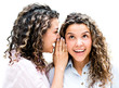 Twins telling a secret