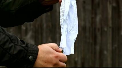 Man burned paper episode 1