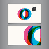 Business card template, letter O