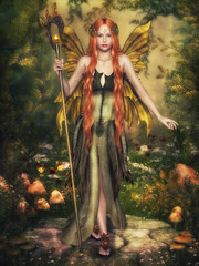 Autumn Fairy, 3d computer craphics