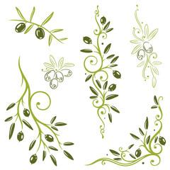 Oliven, Olivenzweige, Küche, kochen